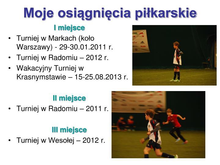 Moje osiągnięcia piłkarskie