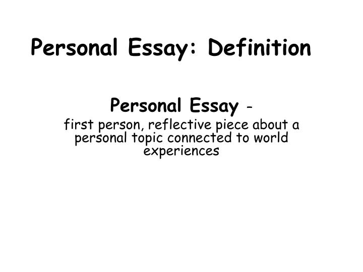 my defining first experience essay