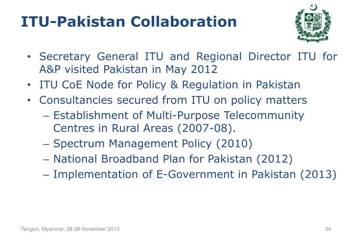 ITU-Pakistan Collaboration