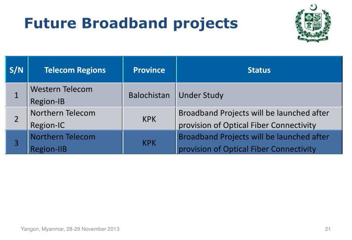 Future Broadband projects
