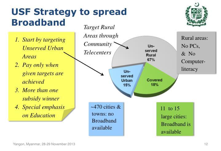 USF Strategy to spread Broadband