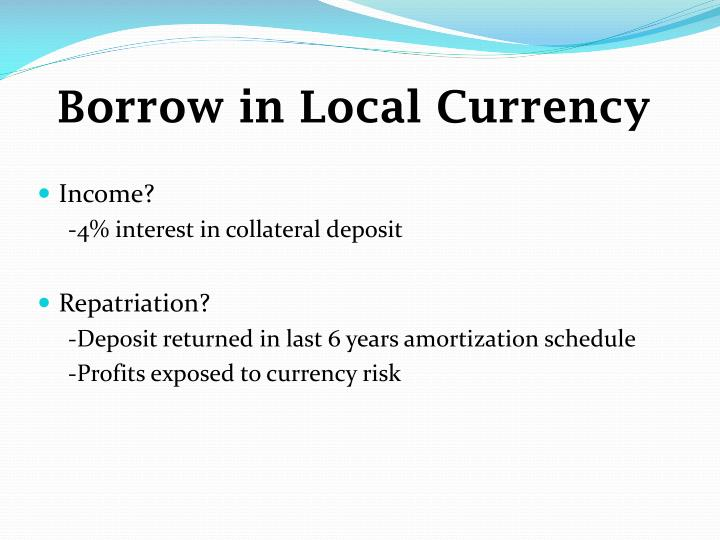 Borrow in Local Currency