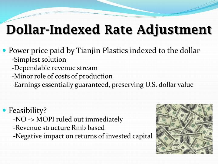 Dollar-Indexed Rate Adjustment