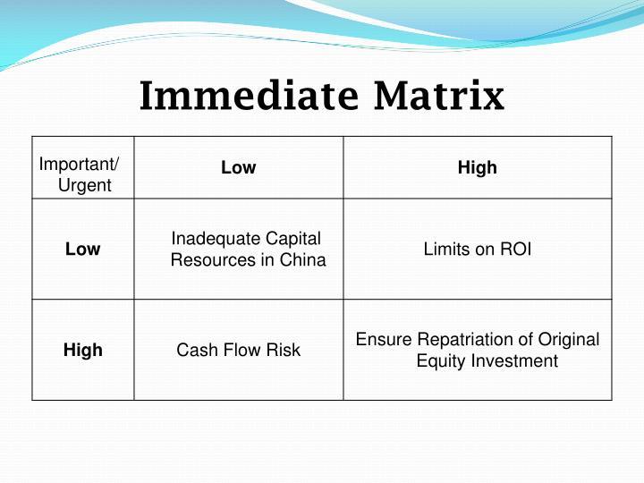 Immediate Matrix