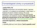farmakologick inky a sympatolytik