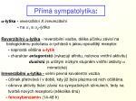 p m sympatolytika