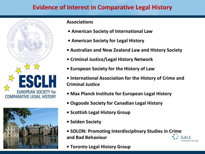 Evidence of Interest in Comparative Legal History