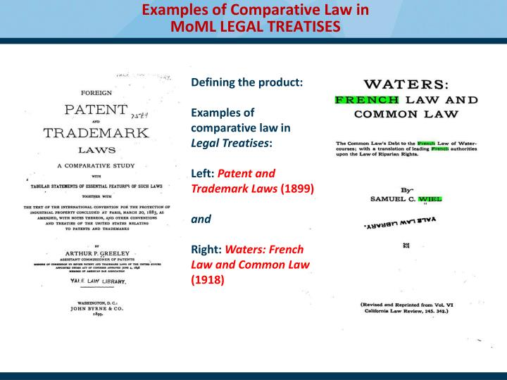 Examples of Comparative Law in