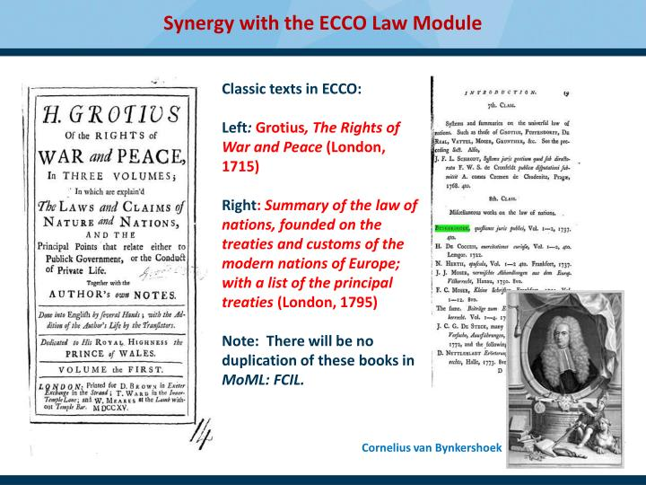 Synergy with the ECCO Law Module