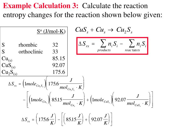 Example Calculation 3: