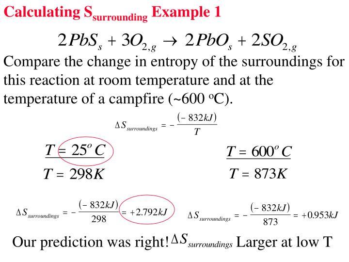 Calculating S