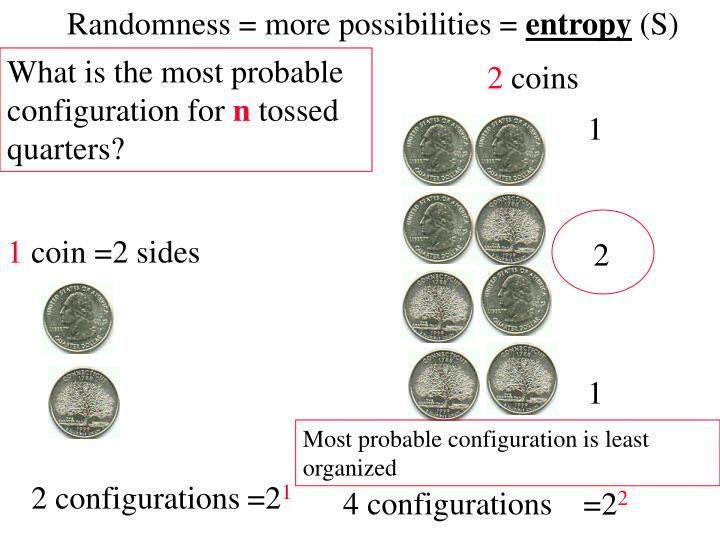 Randomness = more possibilities =