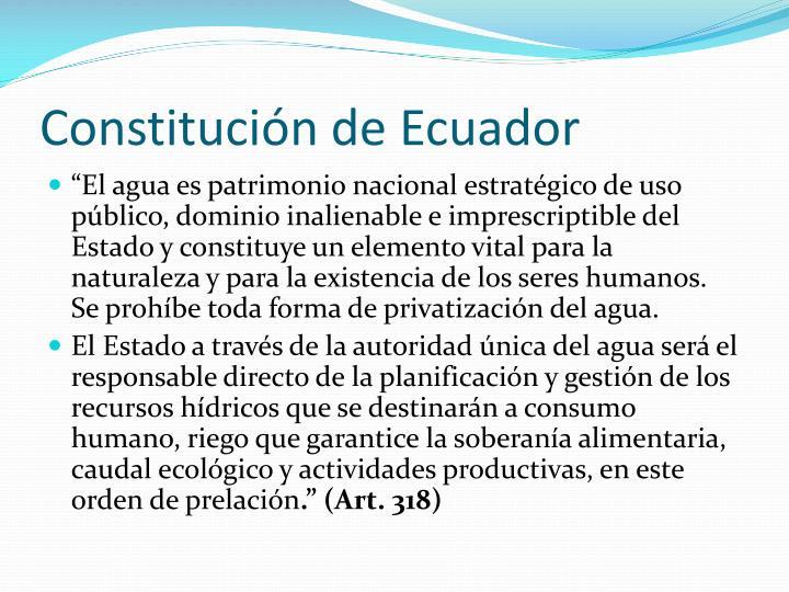Constitución de Ecuador