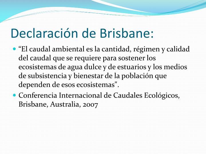 Declaración de Brisbane: