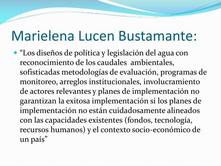 Marielena Lucen Bustamante: