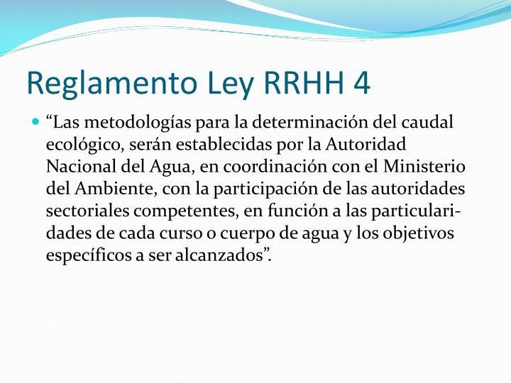 Reglamento Ley RRHH 4