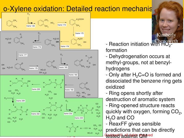o-Xylene oxidation: Detailed reaction mechanism