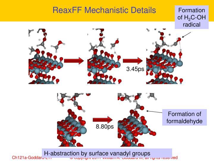 ReaxFF Mechanistic Details