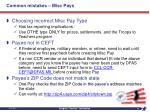 common mistakes misc pays