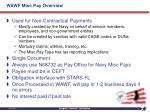 wawf misc pay overview