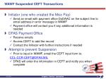 wawf suspended ceft transactions