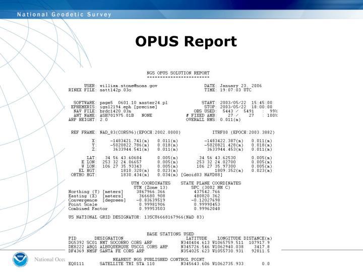 OPUS Report