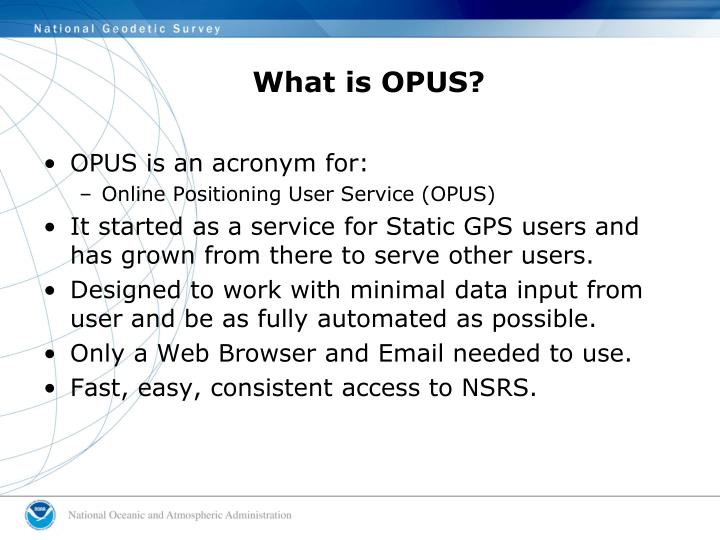 What is opus