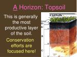 a horizon topsoil1