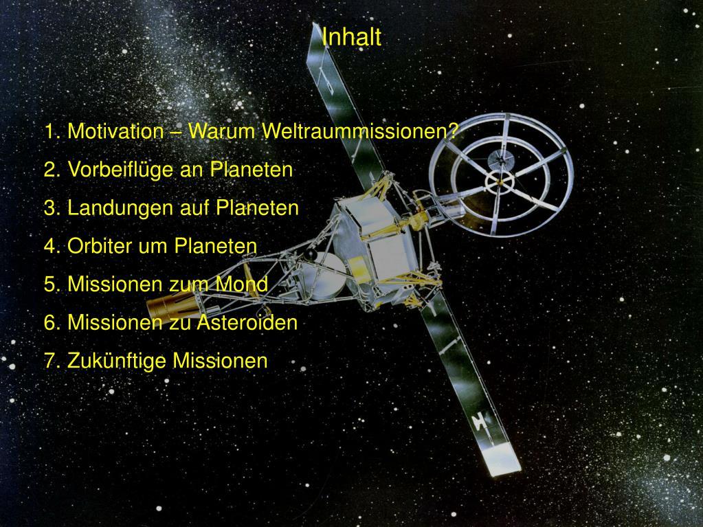 Weltraummissionen