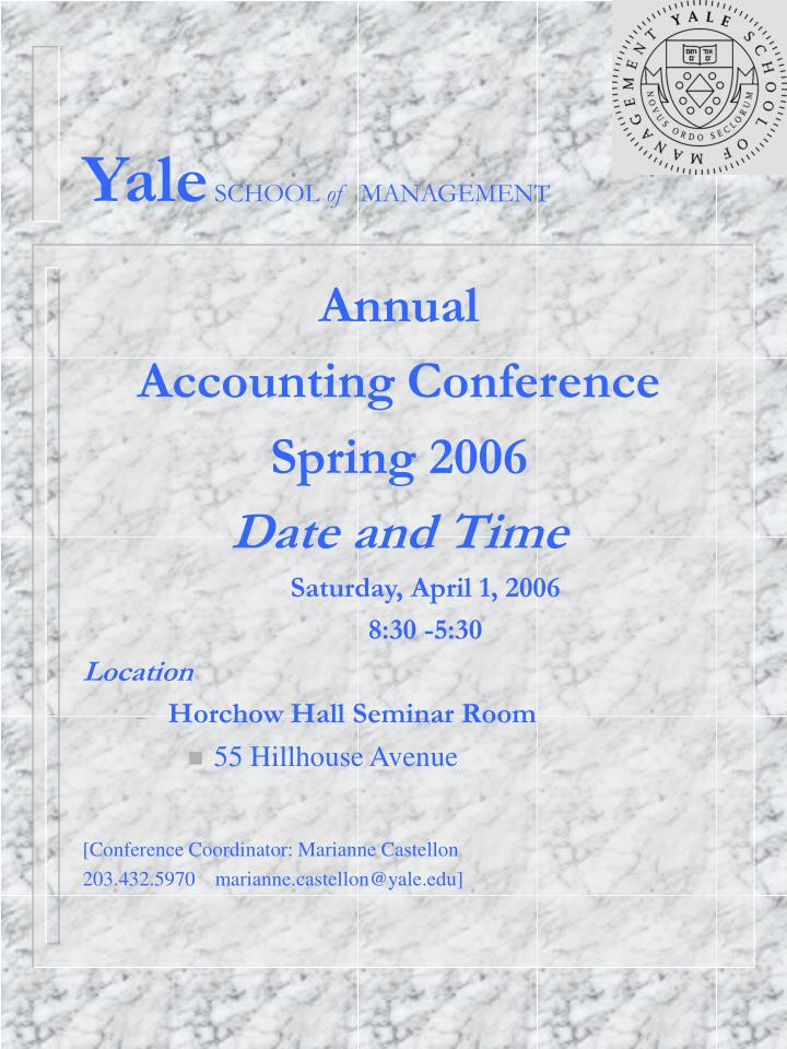 yale school of management n.