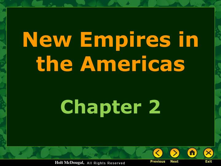 new empires in the americas n.