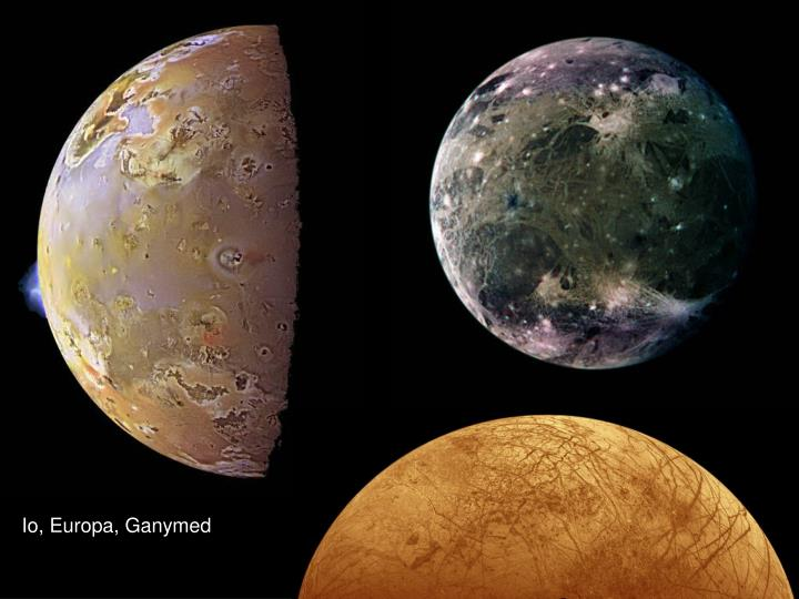 Io, Europa, Ganymed
