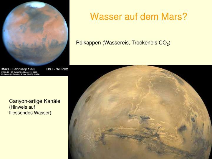 Wasser auf dem Mars?