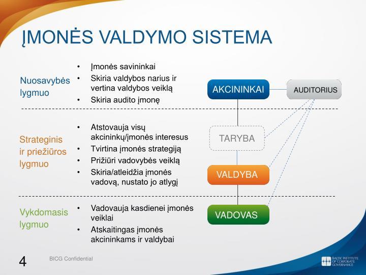 Įmonės valdymo sistema