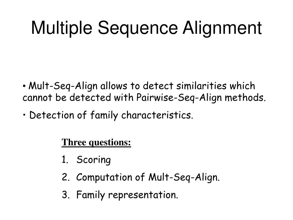 Ppt clustal ω for protein multiple sequence alignment powerpoint.