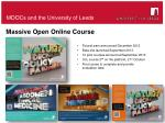 moocs and the university of leeds
