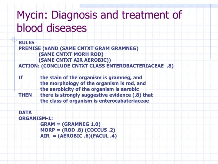 Mycin: Diagnosis and treatment of blood diseases
