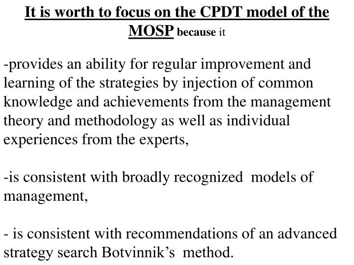 It is worth to focus on the CPDT model of the  MOSP