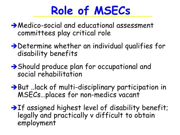 Role of MSECs