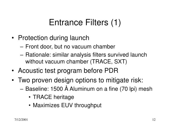Entrance Filters (1)