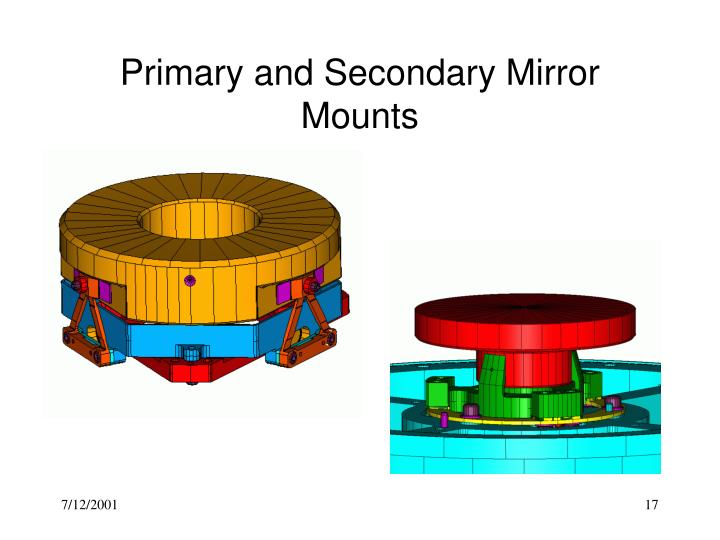 Primary and Secondary Mirror Mounts