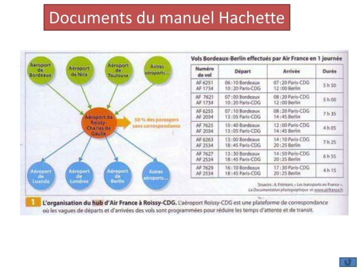 Documents du manuel Hachette