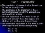 step 1 parameter1