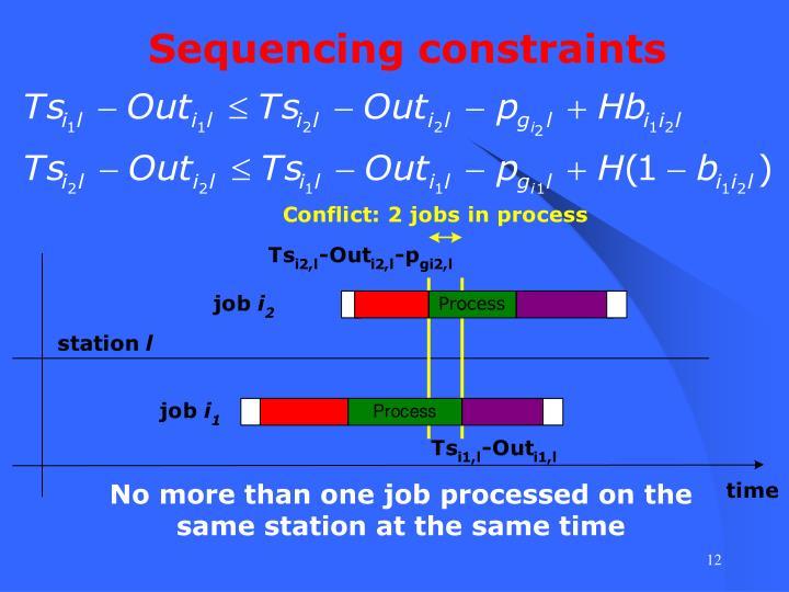Sequencing constraints