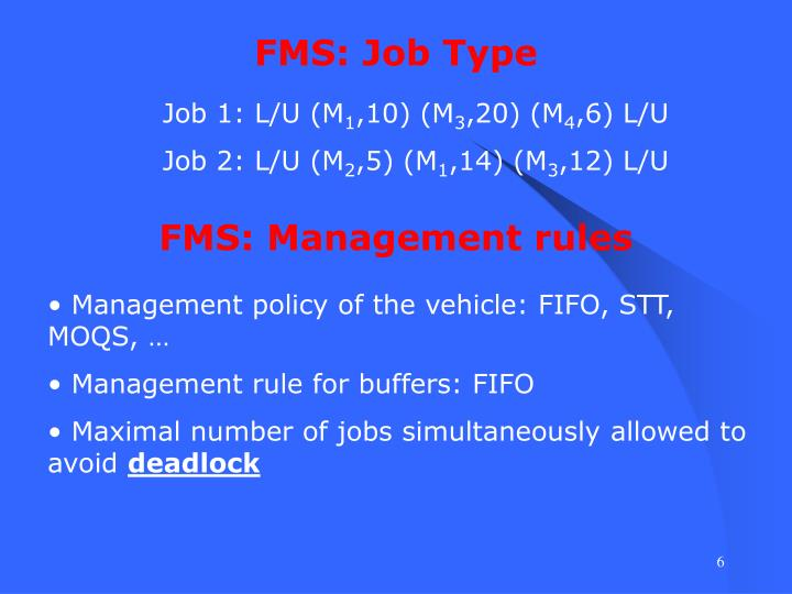 FMS: Job Type