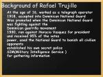 background of rafael trujillo