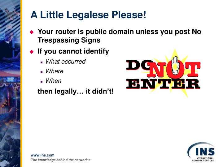 A Little Legalese Please!