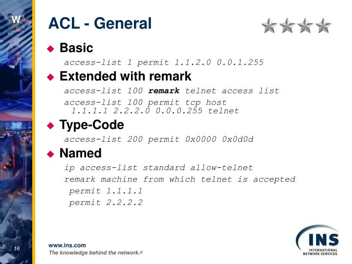 ACL - General