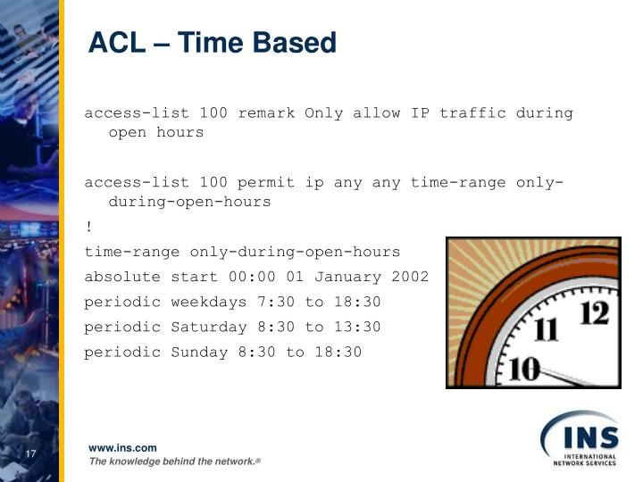 ACL – Time Based