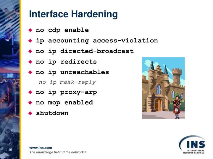 Interface Hardening